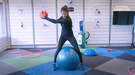 Muscle ton confinement : le backswing