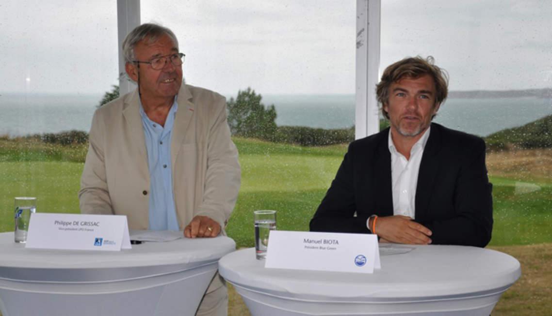 Philippe de Grissac (LPO) et Manuel Biota (Blue Green)
