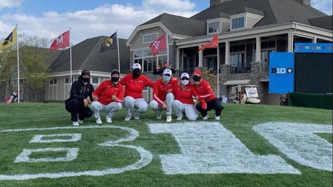 L'équipe de Maryland au Big 10 Championship