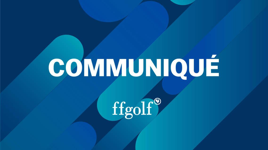 Ffgolf Calendrier 2022 Open de France : communiqué de la ffgolf   Fédération França