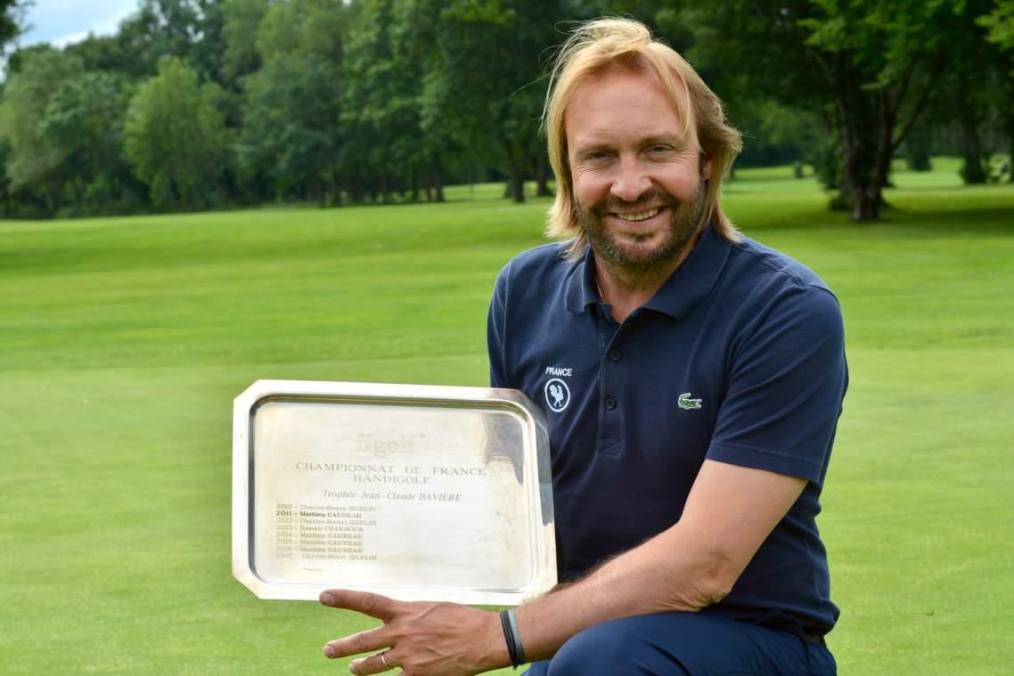 Charles-Henri Quelin a remporté son quatrième Open de France handigolf à Bordeaux-Lac avec un total de + 3.