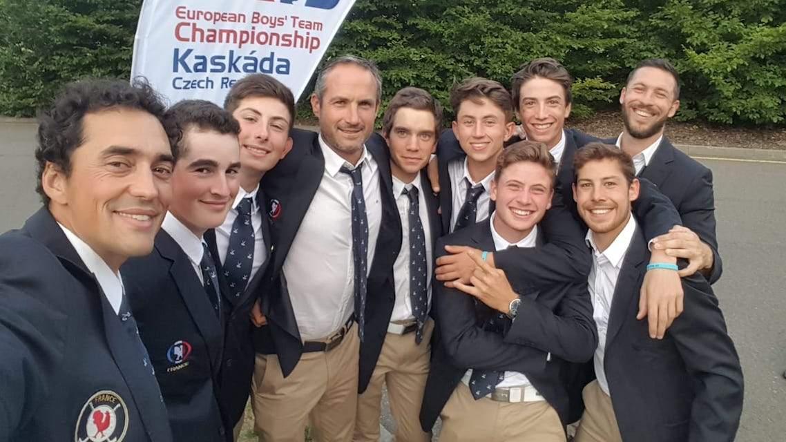 Equipe de France Boys au championnat d'Europe à Kaskada