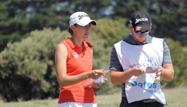 Justine Dreher a joué 69 (-4) lors du deuxième tour du Oates Victorian Open