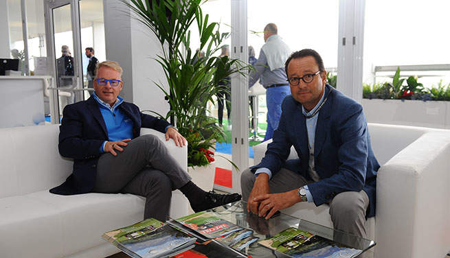 Keith Pelley et Pascal Grizot