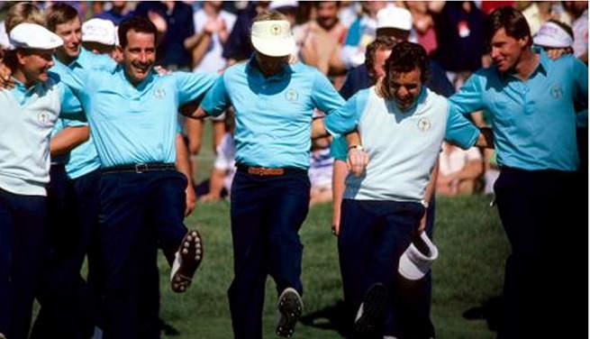 L'équipe européenne victorieuse en 1987 à Muirfield