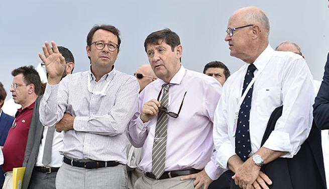 Pascal Grizot, Patrick Kanner et Jean-Lou Charon / Alstom Open de France 2015