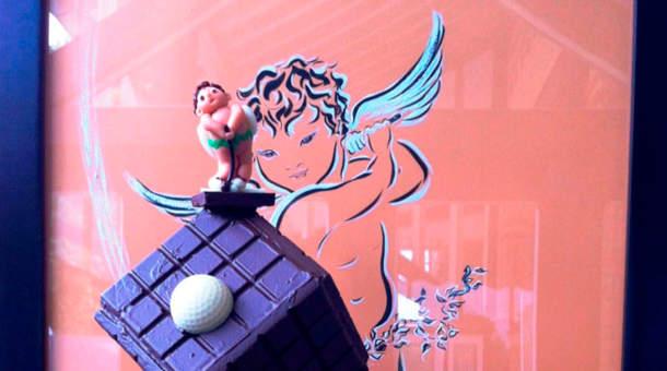 Trophée de golf en chocolat Cassel Fontainebleau
