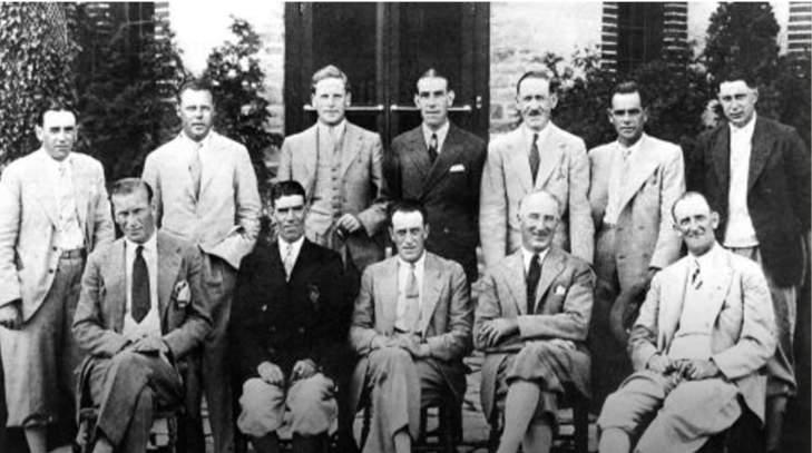 L'équipe américaine victorieuse en 1931.