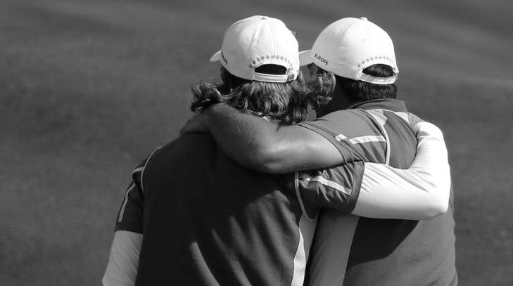 Tommy Fleetwood et Francesco Molinari