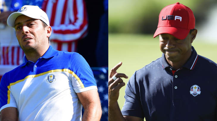 Francesco Molinari et Tiger Woods