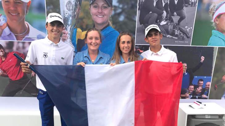 L'équipe de France 1 à l'Evian Championship Juniors Cup