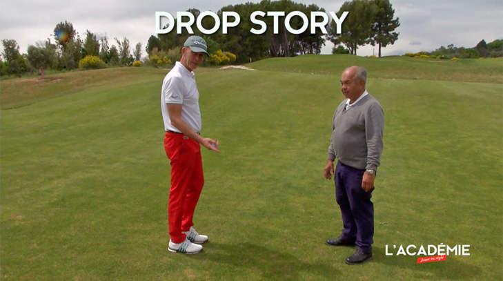 Règles de Golf : drop story (n°10)