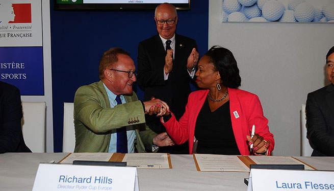 Richard Hills et Laura Flessel